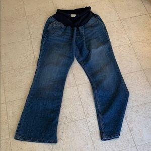 Motherhood Maternity boot cut jeans, full panel